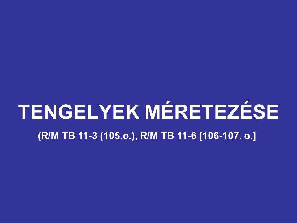 TENGELYEK MÉRETEZÉSE (R/M TB 11-3 (105.o.), R/M TB 11-6 [106-107. o.]